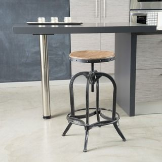 Christopher Knight Home Adjule Natural Fir Wood Finish Barstool Ping Great Deals