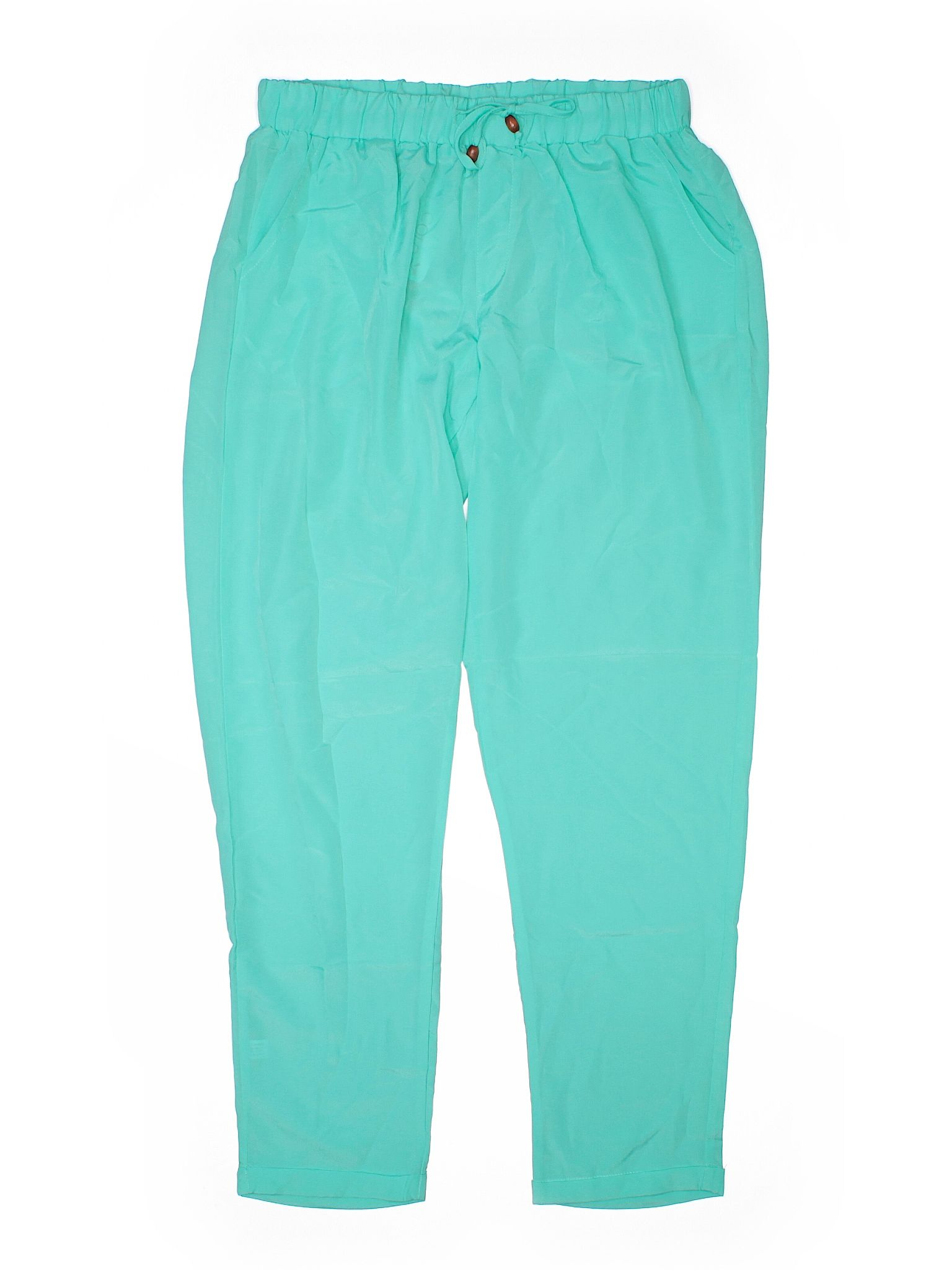 All For Color Casual Pants Size 800 Teal Womens Bottoms