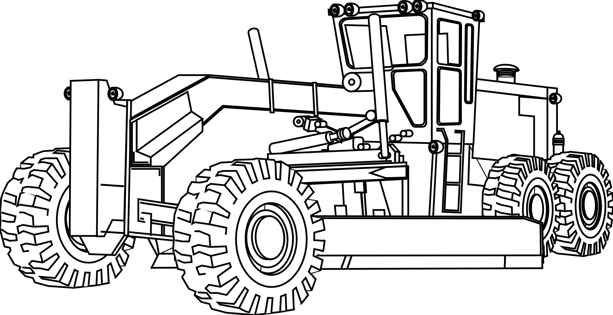road construction equipment coloring pages - photo#1