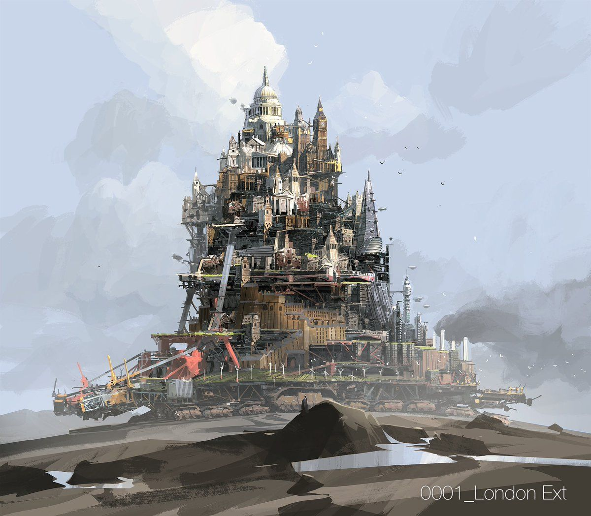 Ian McQue(@ianmcque)さん | Twitter | Mortal engines, Concept art, Steampunk  city