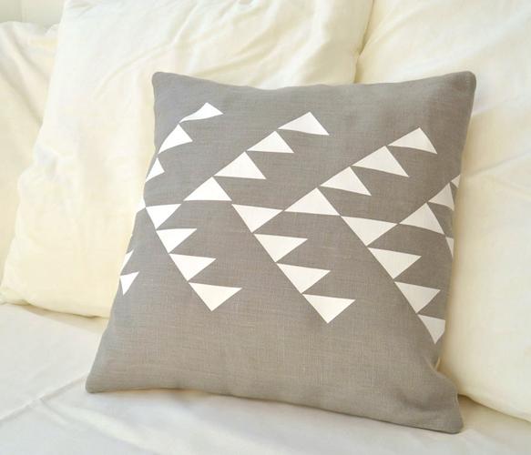 Grey Linen Pillow Cover