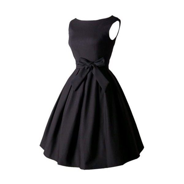 Rotita Zipper Closure Bowknot Decorated Black Skater Dress ($25) ❤ liked on Polyvore featuring dresses, black, print dress, zipper dress, vintage dresses, vintage skater dress and sleeveless skater dress