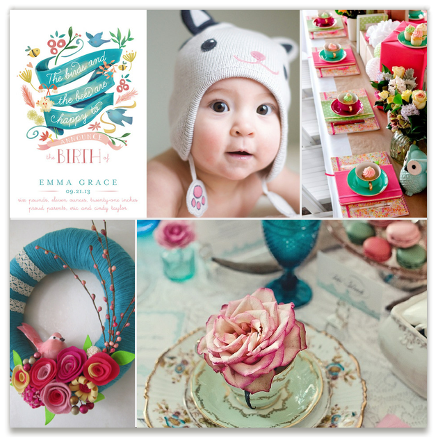 Enchanted Baby Inspiration Board, curated by Britt Clendenen at Minted