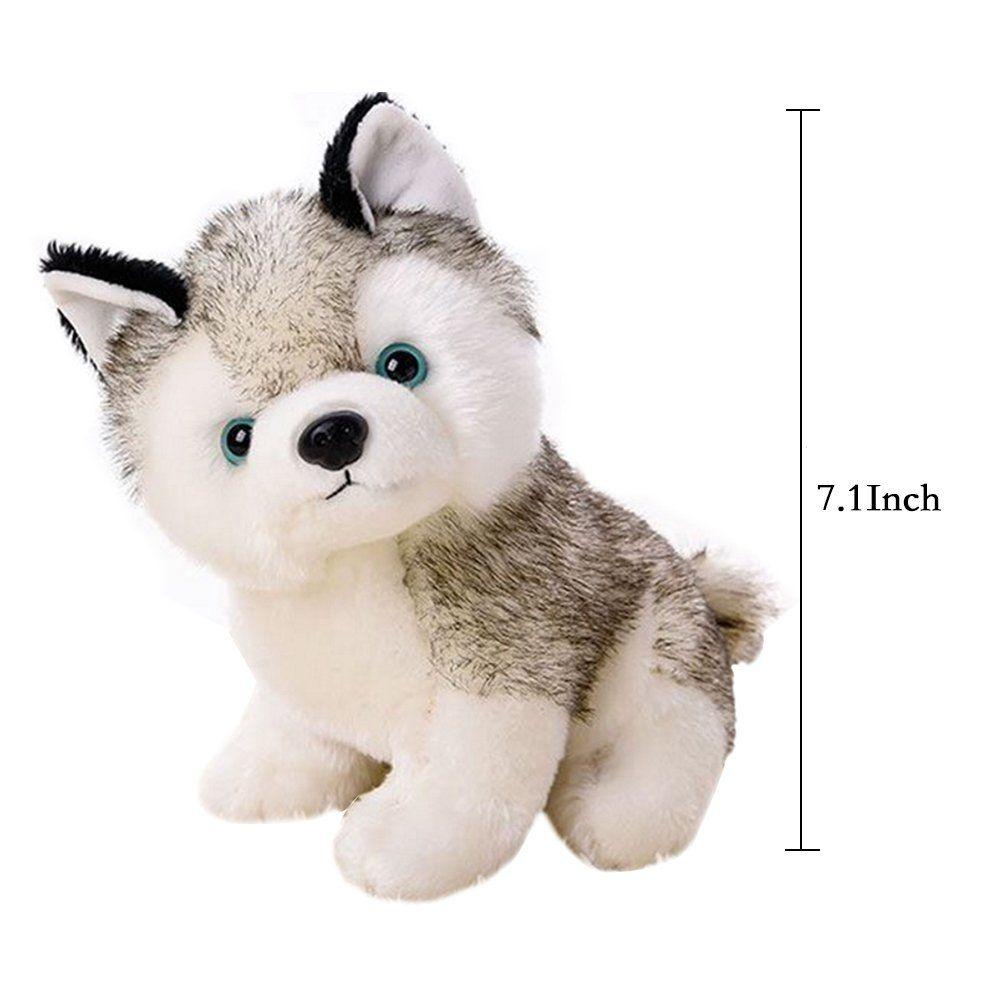 Stuffed Animals Plush Husky Dog Cute Puppy Plush Toys For Baby