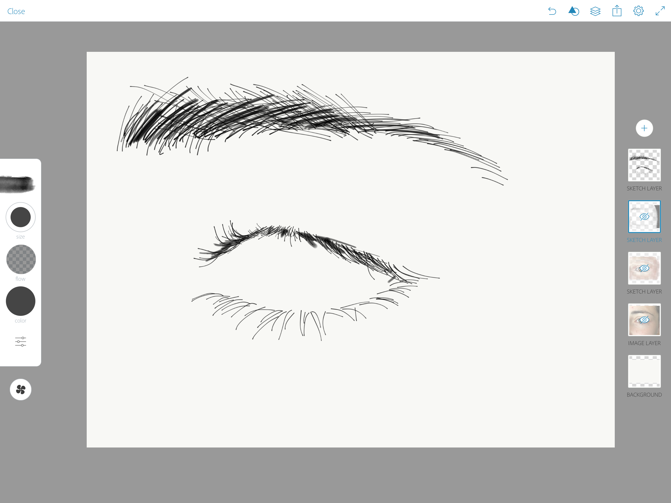 Step 2 draw outlines drawing your eye in adobe sketch with apple ipad pro and apple pencil