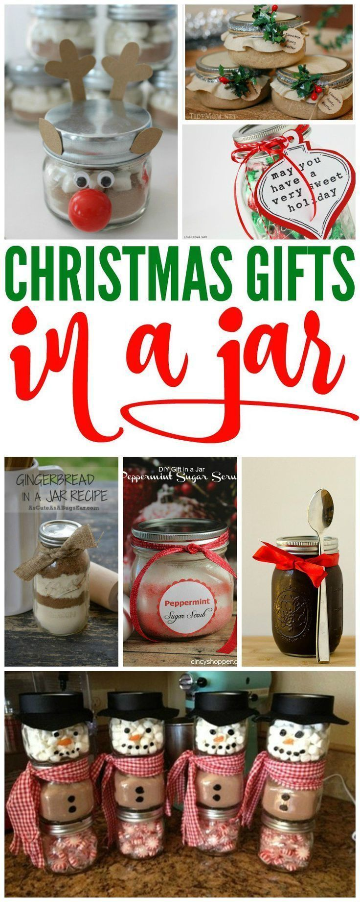 christmas gift in jars if you are looking for cheap christmas gift ideas for your friends and teachers these gifts in jars are sure to be a hit - Cheap Christmas Gifts For Friends