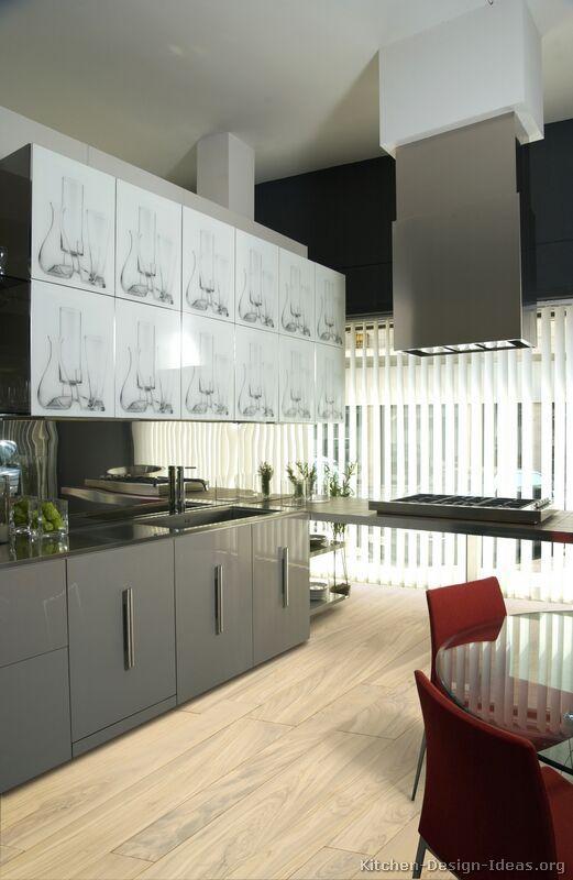 Modern Gray Kitchen Cabinets #TT29 (Kitchen Design Ideas.org)