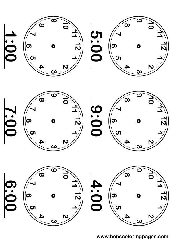 how to learn time in clock