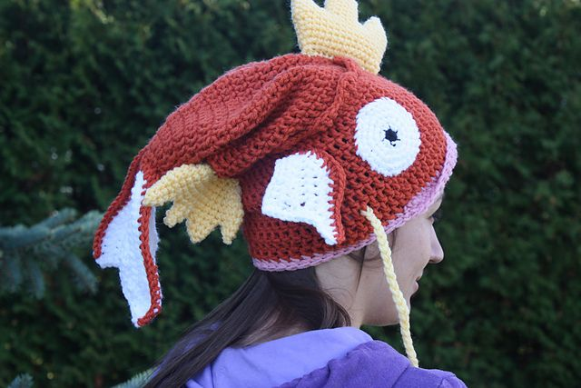 Magikarp Slouchy Hat pattern by Becca de Kroon | Pinterest | Mütze ...