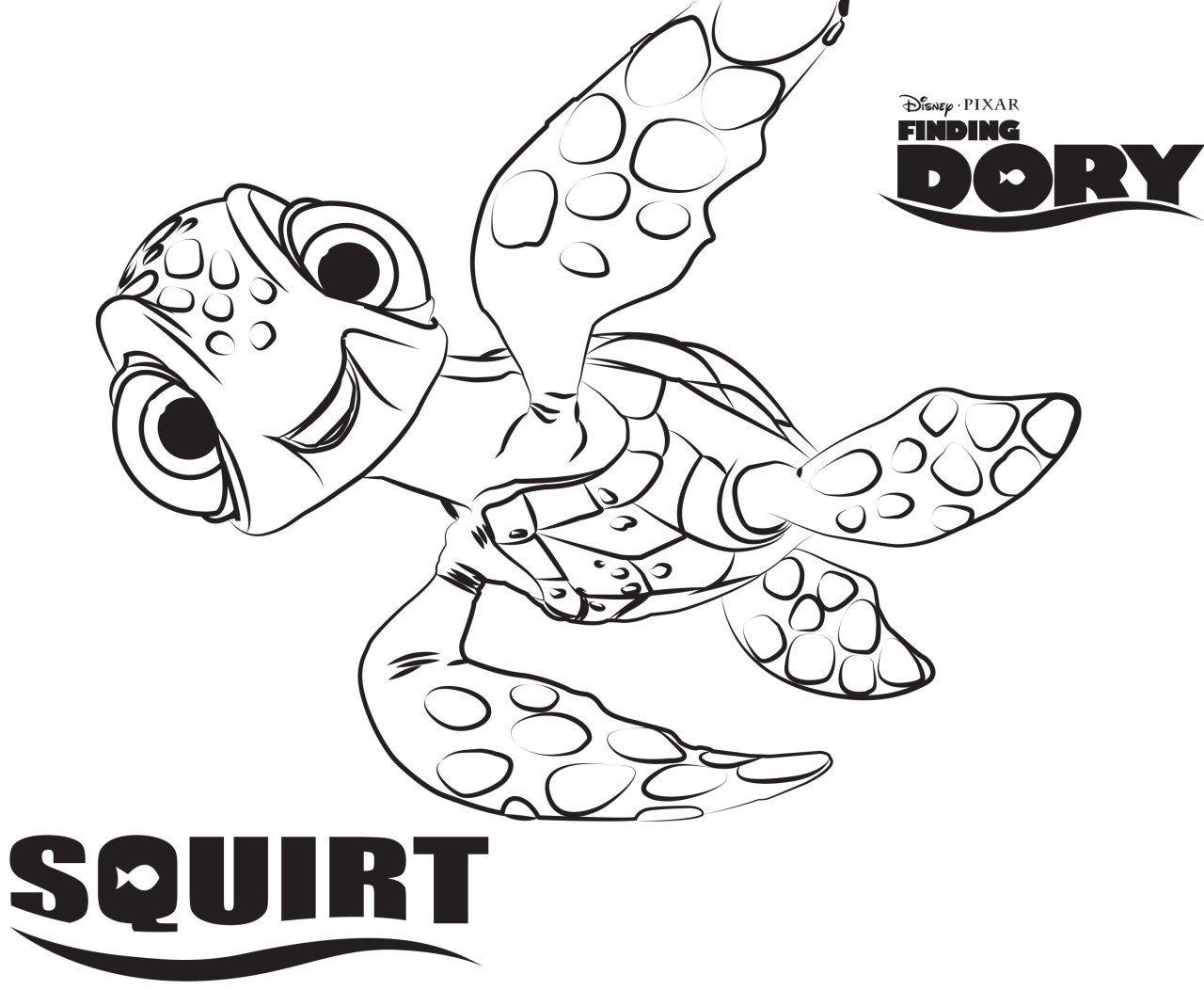 Procurando Nemo Tartaruga Páginas para colorir da