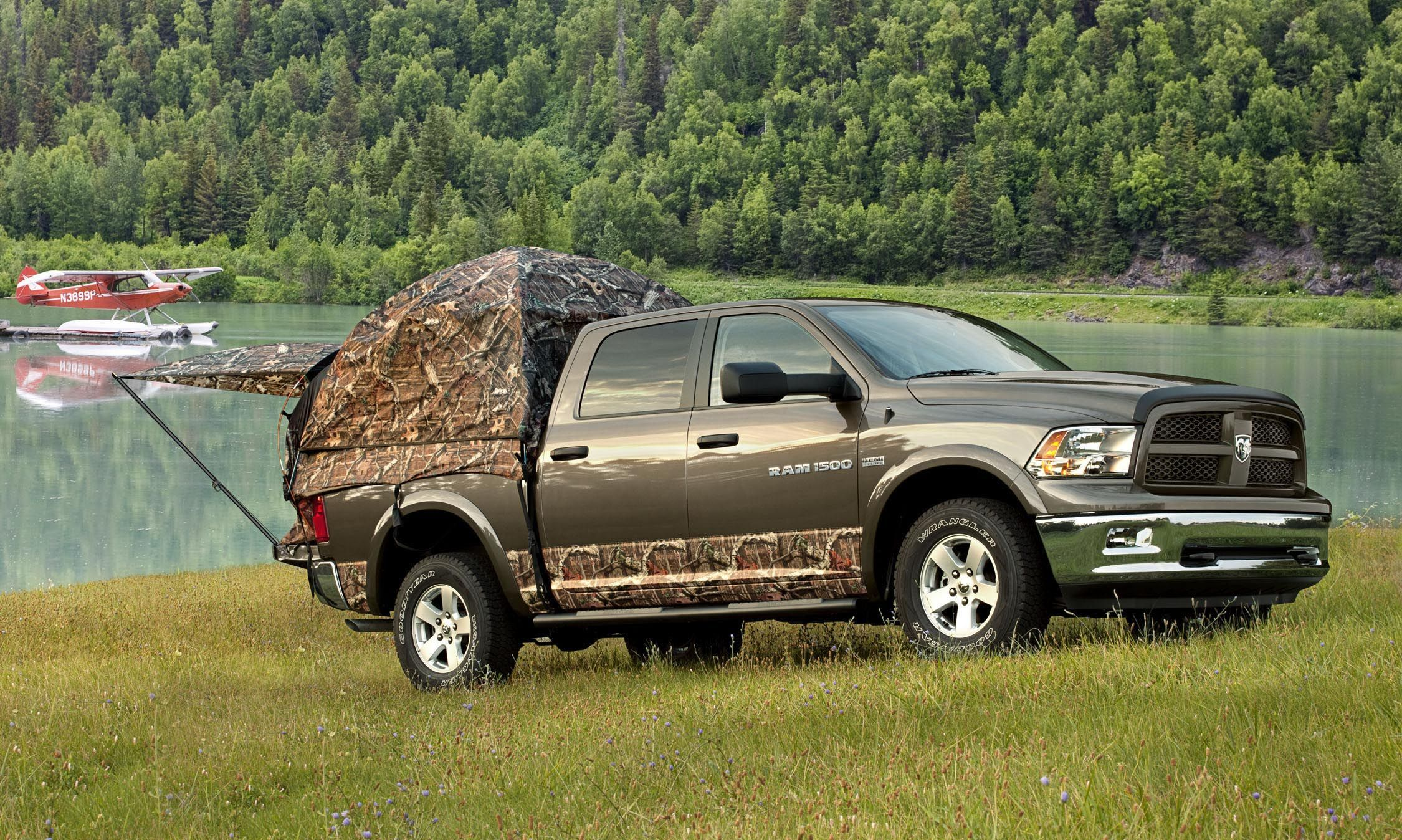 Napier Camo Truck Camping Tent on the new Ram Outdoorsman