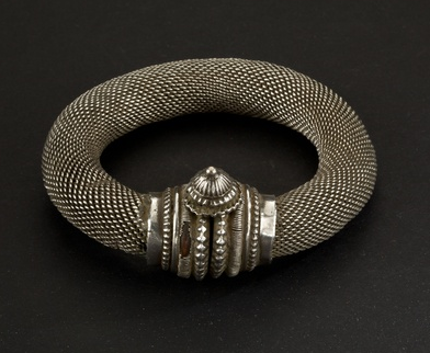 India | Silver bracelet from Rajasthan | ca. 1st of of the 20th century.