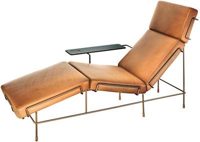 Traffic Lounge Chair Brown Leather By Magis