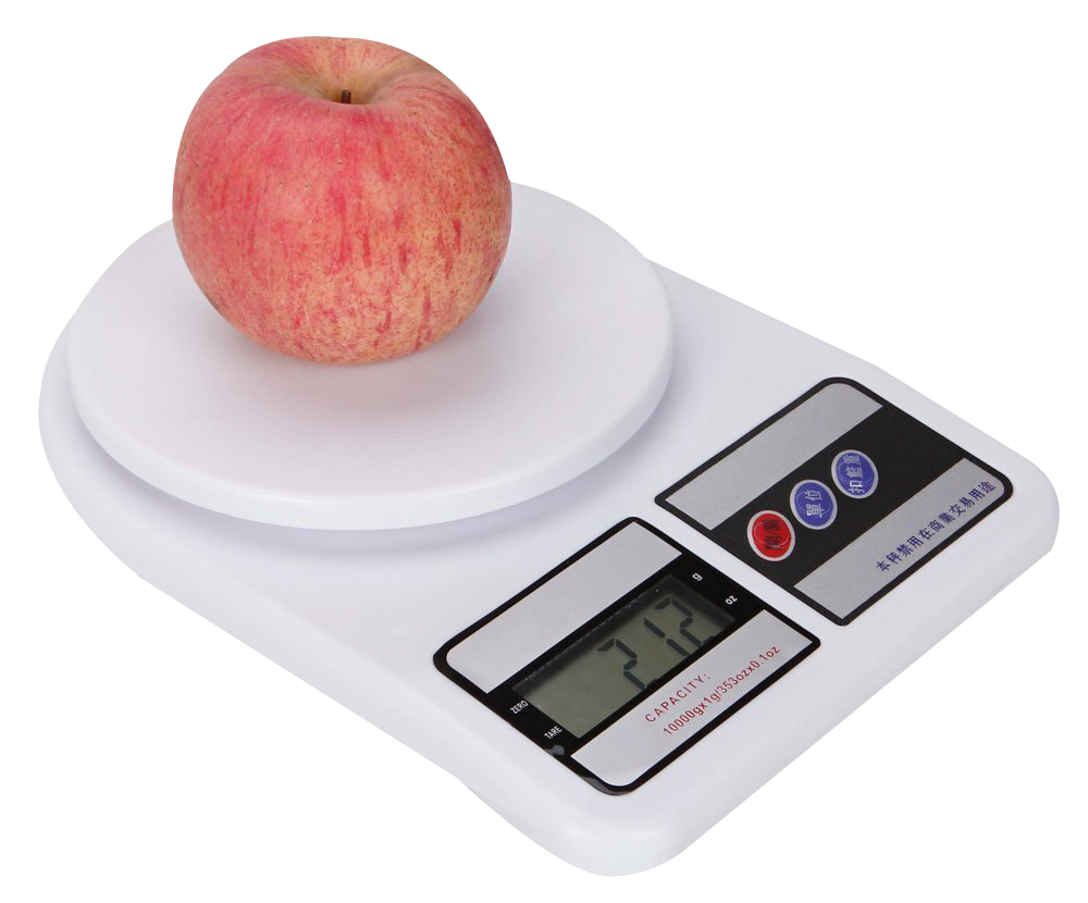 Weighing Scale with Apple PNG Image Weighing scale