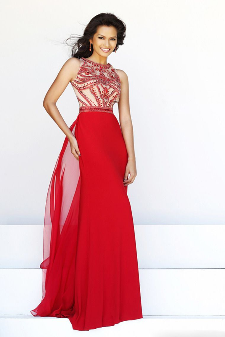 hot selling scoop a line full length prom dress beaded tulle