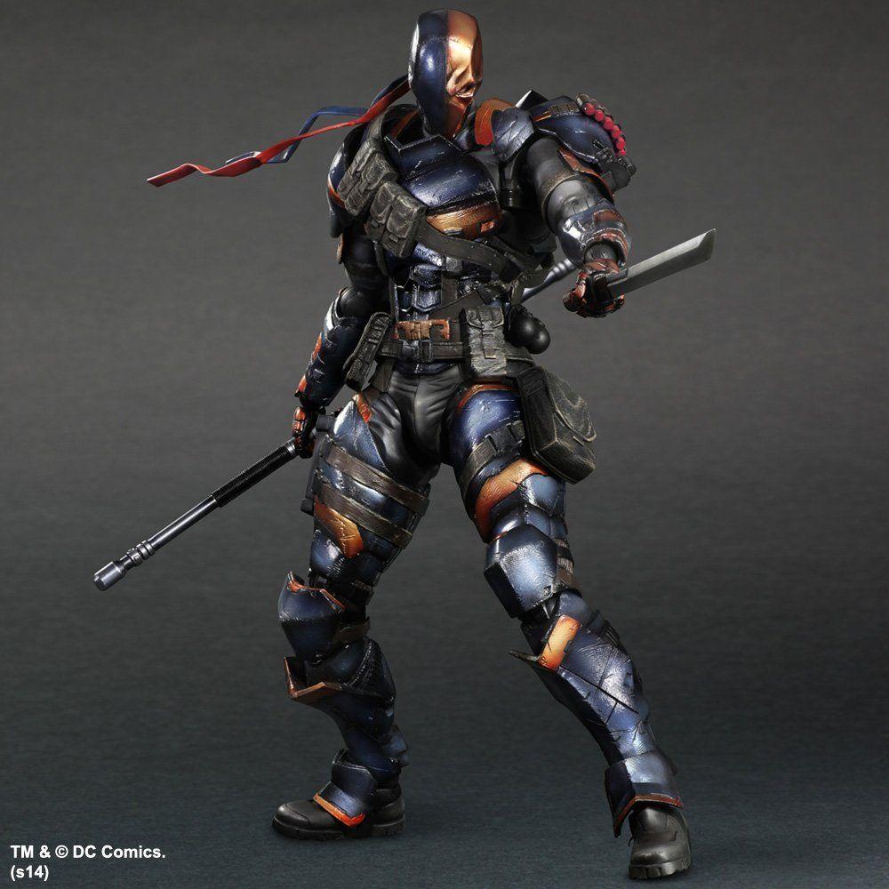 DC Comics Play Arts Kai Arkham Origins Deathstroke PVC Action Figure