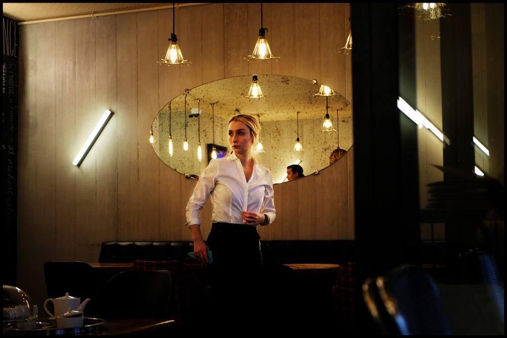 Waitress in a coffee - Mouffetard, Paris. © D.Desbrueres