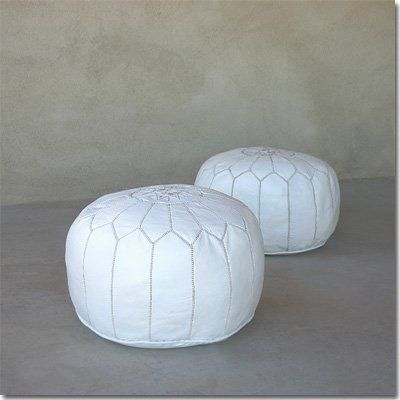 Moroccan Leather Pouf - http://www.furniturendecor.com/moroccan-leather-pouf/- Related categories: Furniture, Home and Kitchen, Living Room Furniture, Ottomans