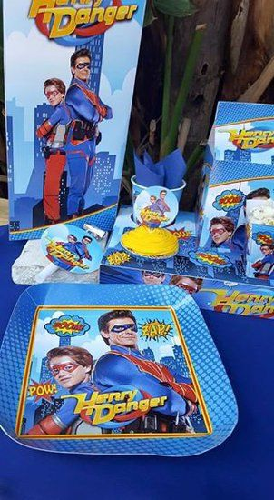 Henry Danger Party Supplies Include Personalised Invitations Paper
