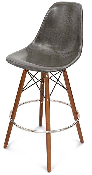 Modernica Fiberglass Shell Chair With Dowel Swivel Bar