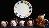Snowman mini tea set