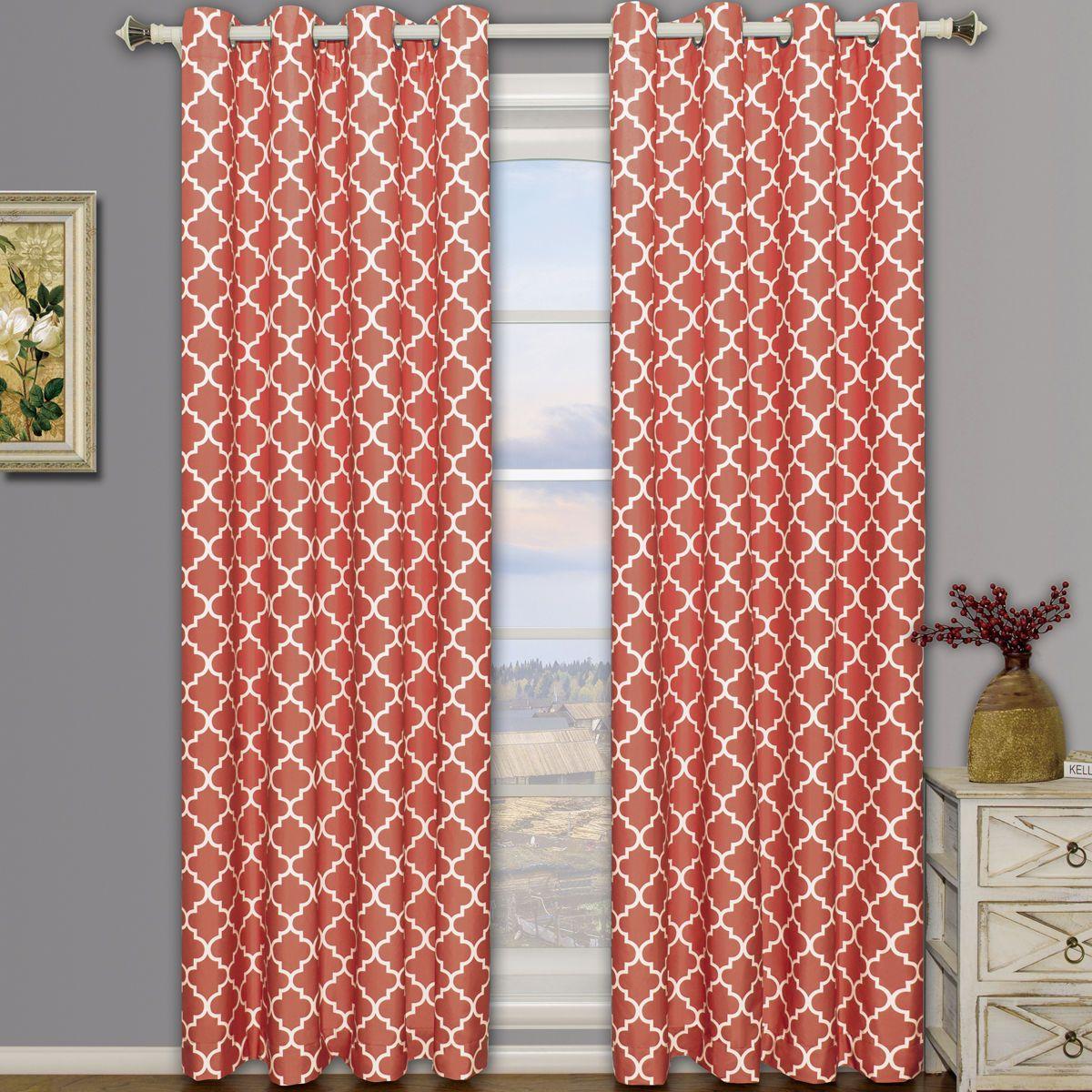 Meridian room darkening grommet top window curtain drapes thermal