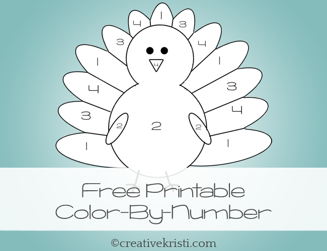 CLICK HERE For Your FREE Printable Thanksgiving Color By Number Creativekristi