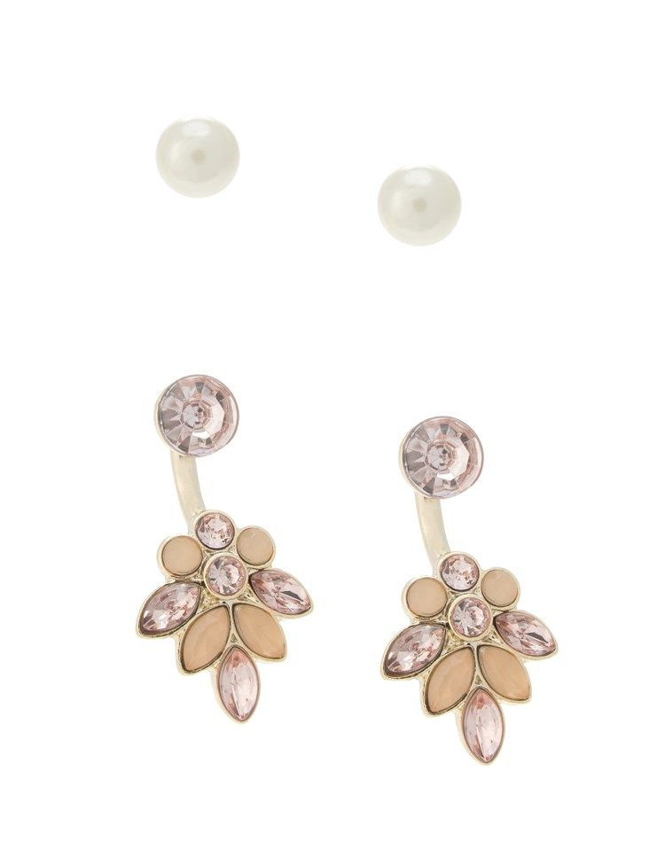 Ariana Grande For Lipsy Front Back And Stud Earring Two Pack ...