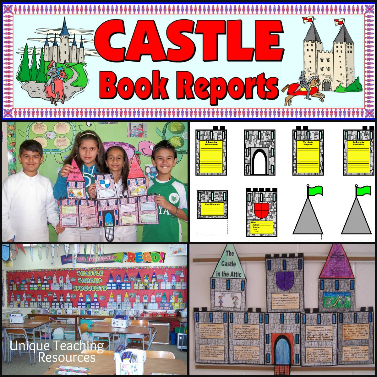 Extra Large Castle Book Report Project Templates Worksheets Rubric And More
