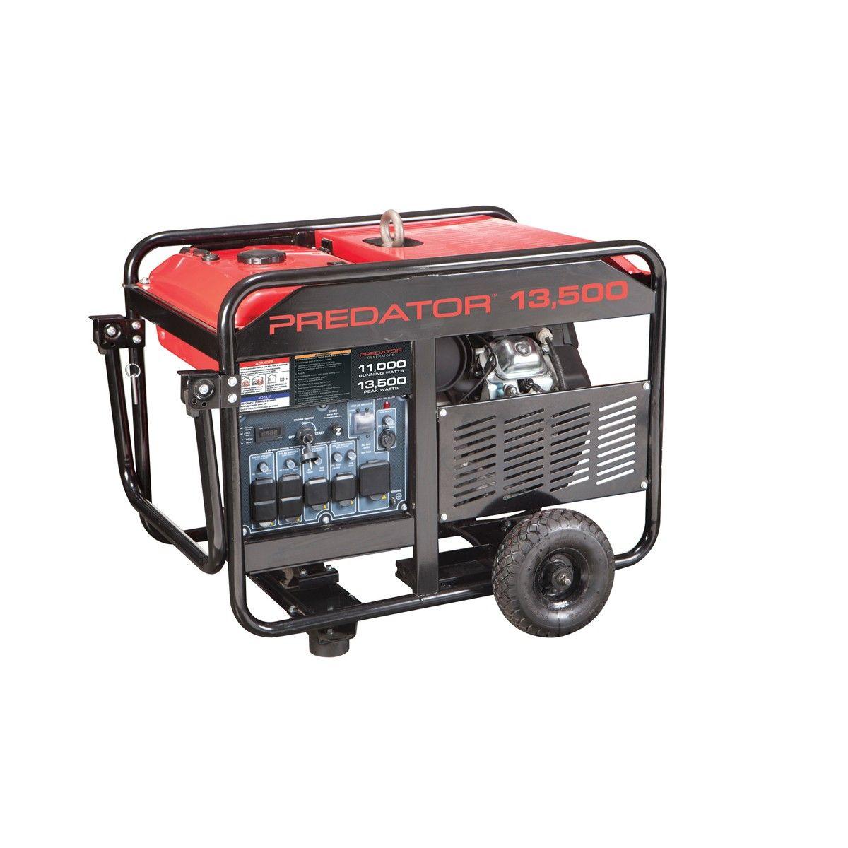 13500 Peak/11000 Running Watts, 22 HP (670cc) Gas
