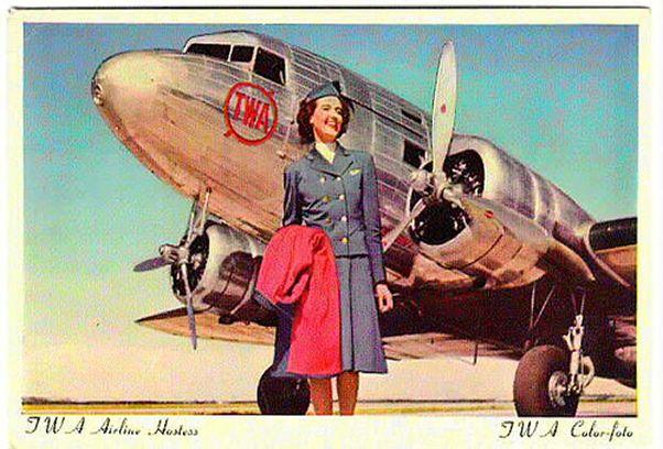TWA Stewardess Image