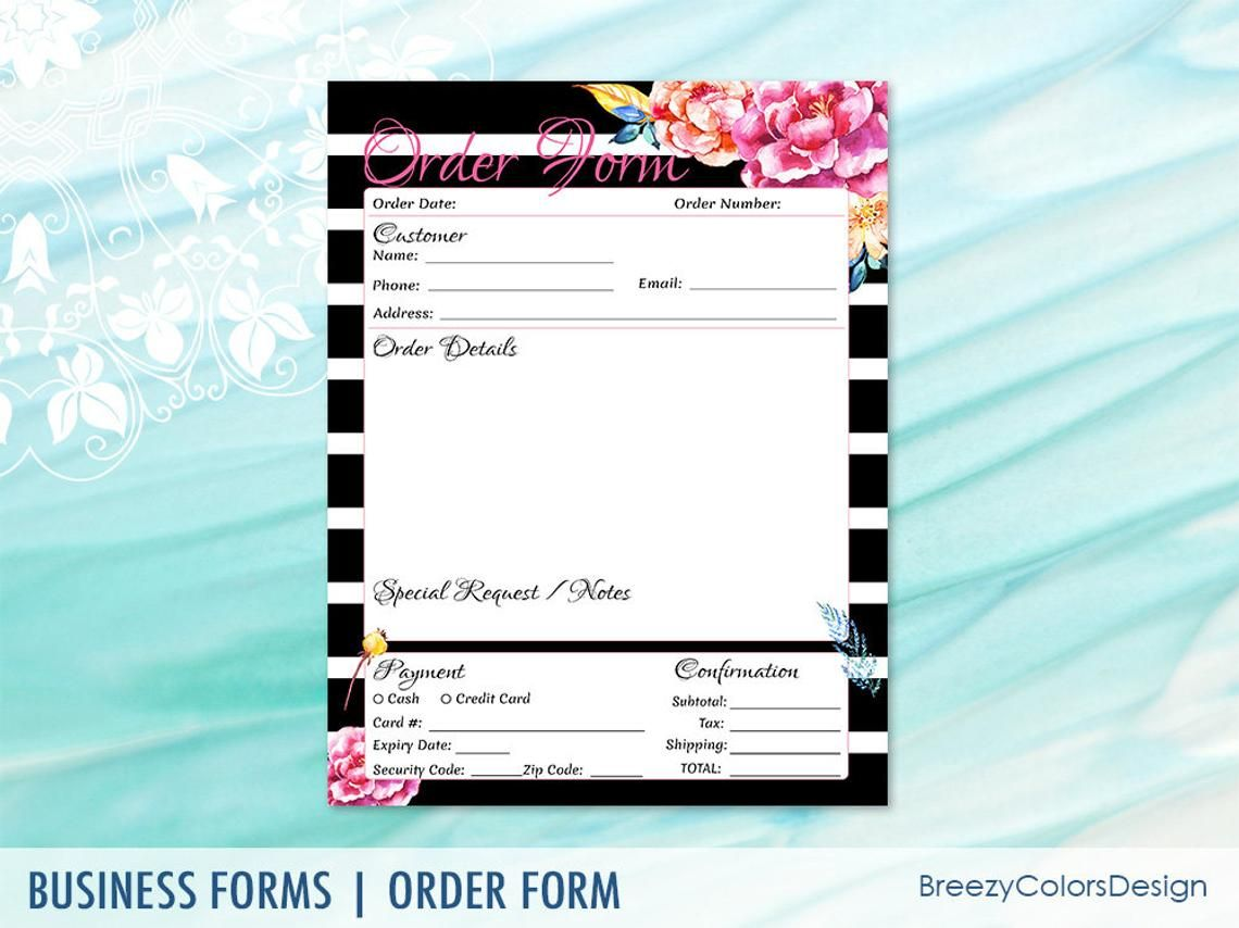 Craft Show Order Form Templates Download Simple Sales