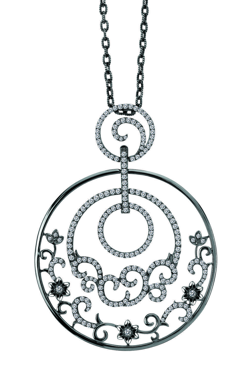 A beautiful necklace part of Michael John\'s Lacey Dream collection ...