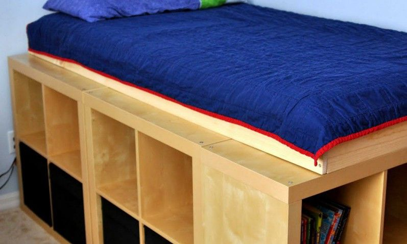 Bed With Storage With KALLAX Or EXPEDIT   Bidouilles IKEA