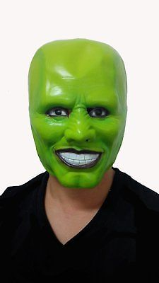 The Mask Movie Jim Carrey Cosplay Green Mask Costume Fancy Mask ...