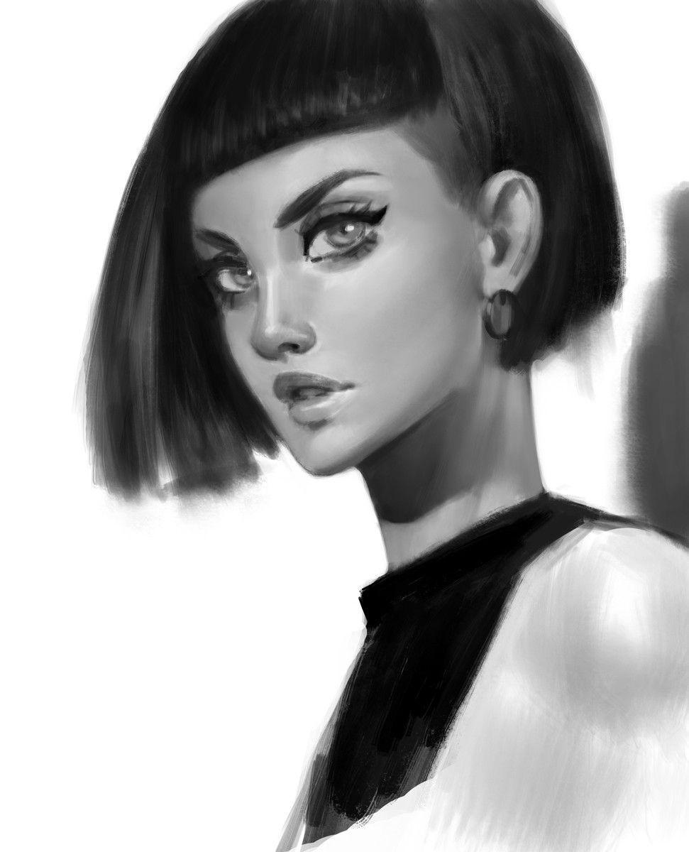 B_W Portraits, Anna Maystrenko on ArtStation at…