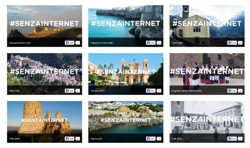 La campagna #senzainternet per dare voce al #digitaldivide in #Italia: partecipa anche tu e mappa i luoghi non raggiunti dalla banda larga su http://senzainternet.com/ !!