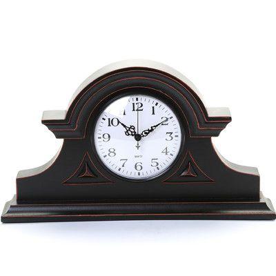 IMAX Mantel Clock in Black