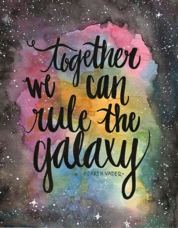 Star wars darth vader quote 8x10 watercolor and ink by - Star wars quotes wallpaper ...