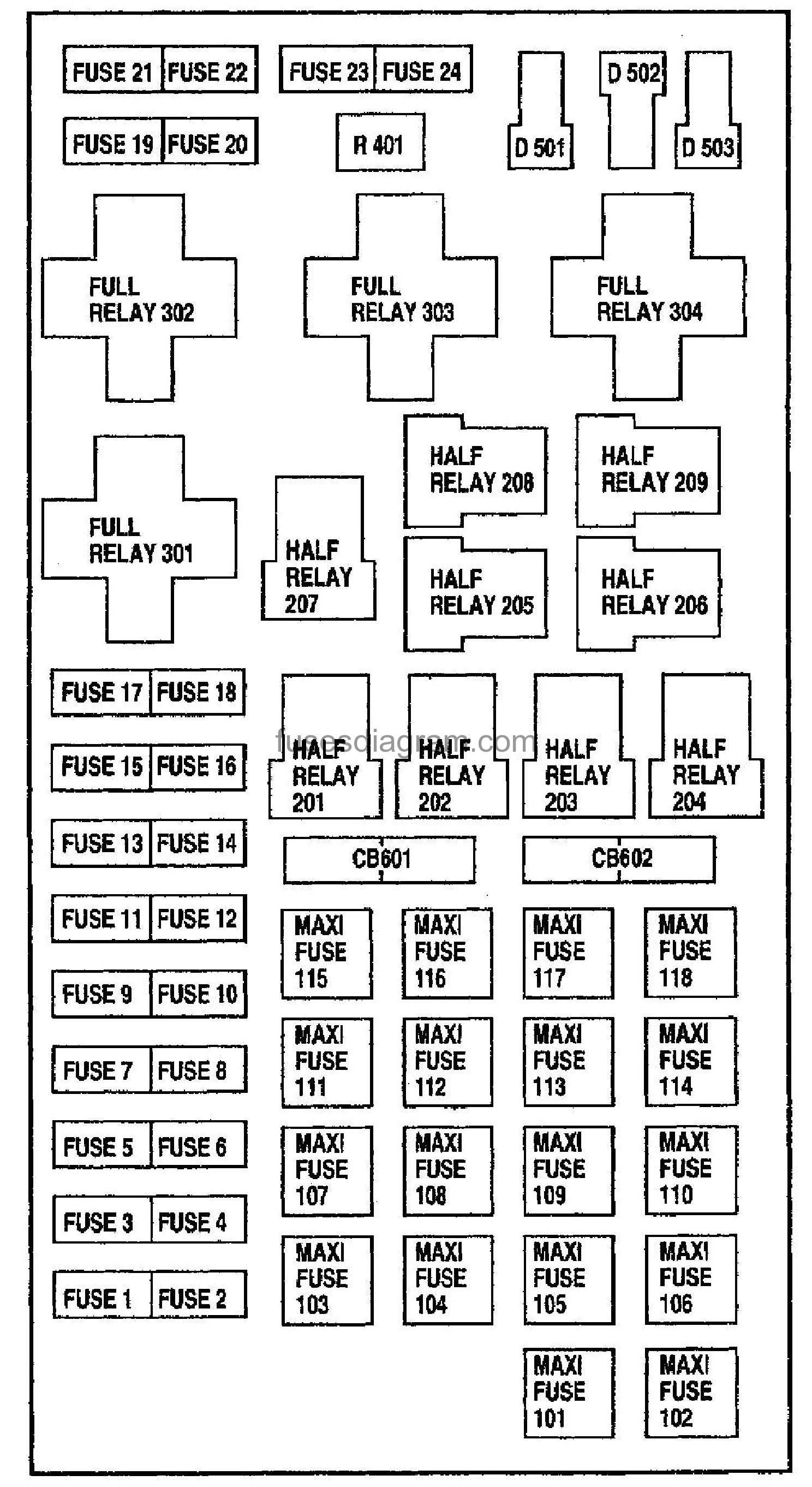 Fuse Diagram For 2001 Ford F150 4 2 Liter Ford F150 F150 Ford