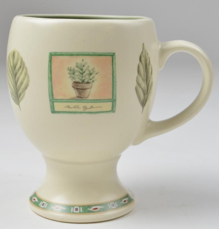 pfaltzgraff naturewood pattern pedestal mug 5 tall - Pfaltzgraff Patterns
