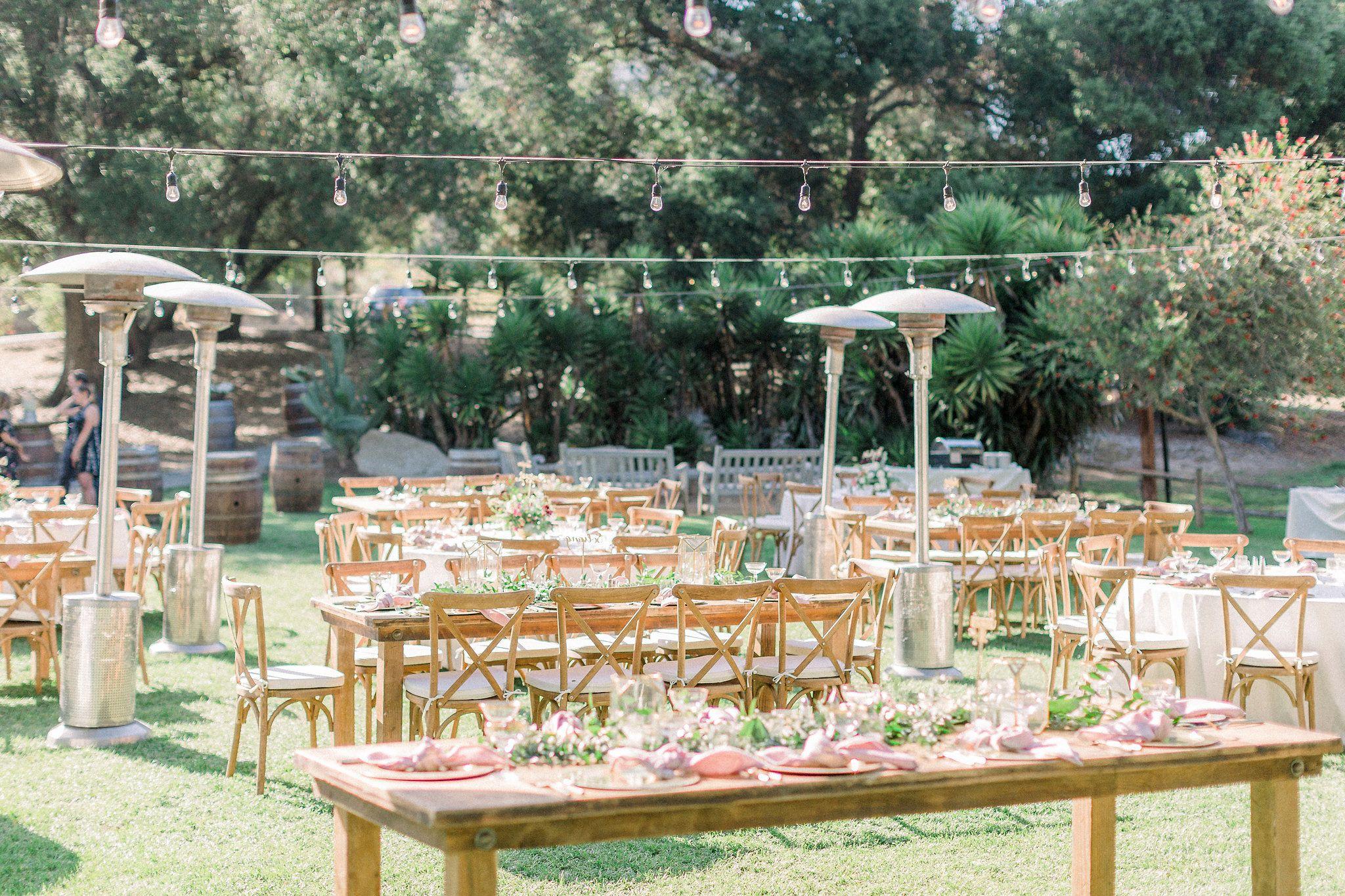 Farm Tables And More Southern California Wedding Rentals Wedding Reception Rustic Wedding Southern California Garden Wedding California Wedding