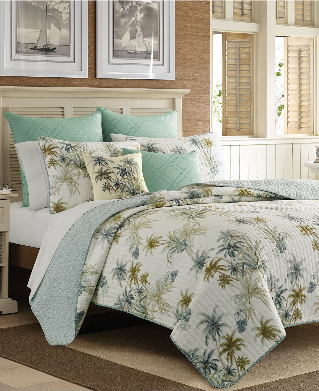 Tommy Bahama Home Serenity Palms Quilt Collection Reviews Quilts Bedspreads Bed Bath Macy S Tommy Bahama Quilts Tommy Bahama Bedding Tommy Bahama Home
