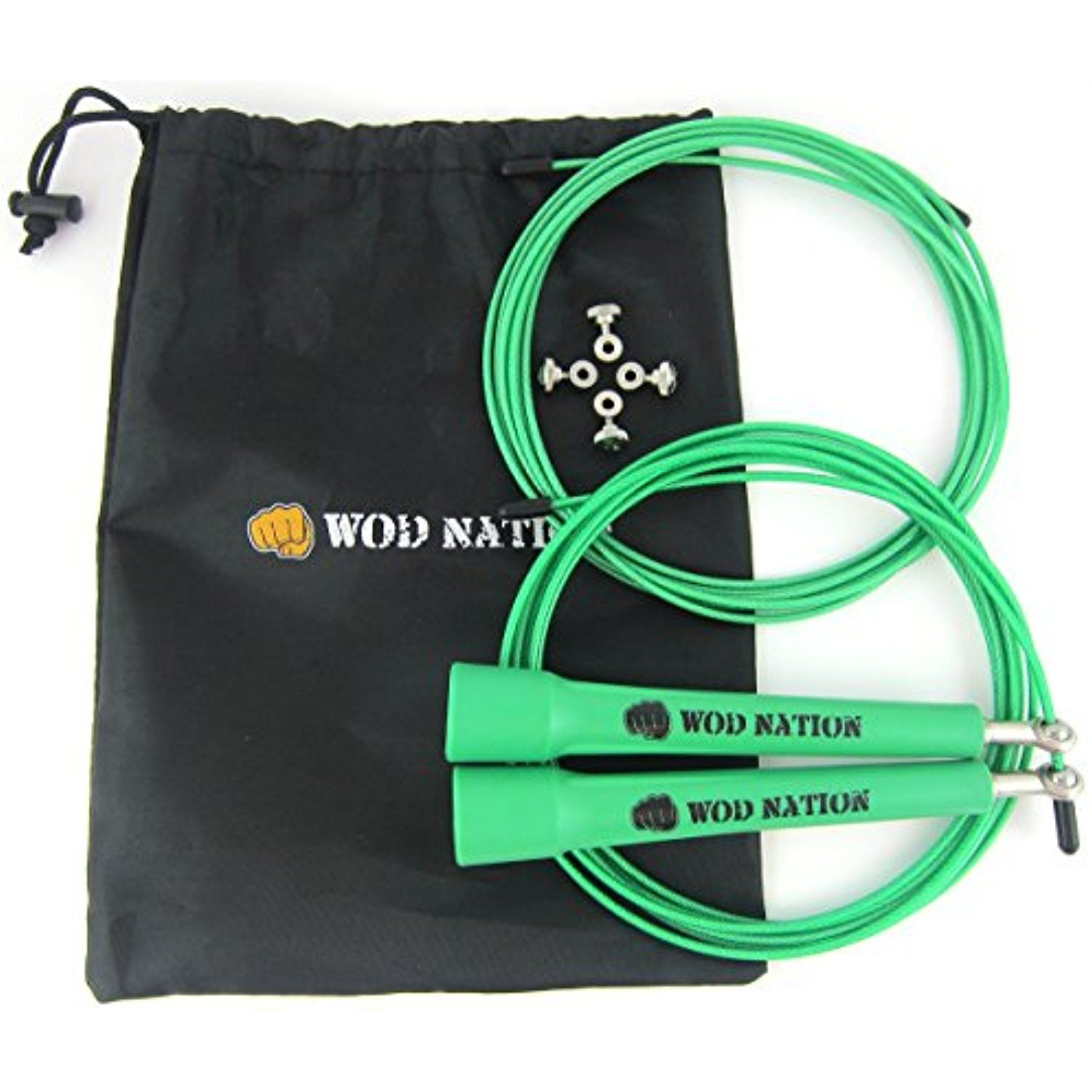 Adjustable for Cardio Fitness /& Speed Endurance Training Choose from 5 Jump Rope Styles
