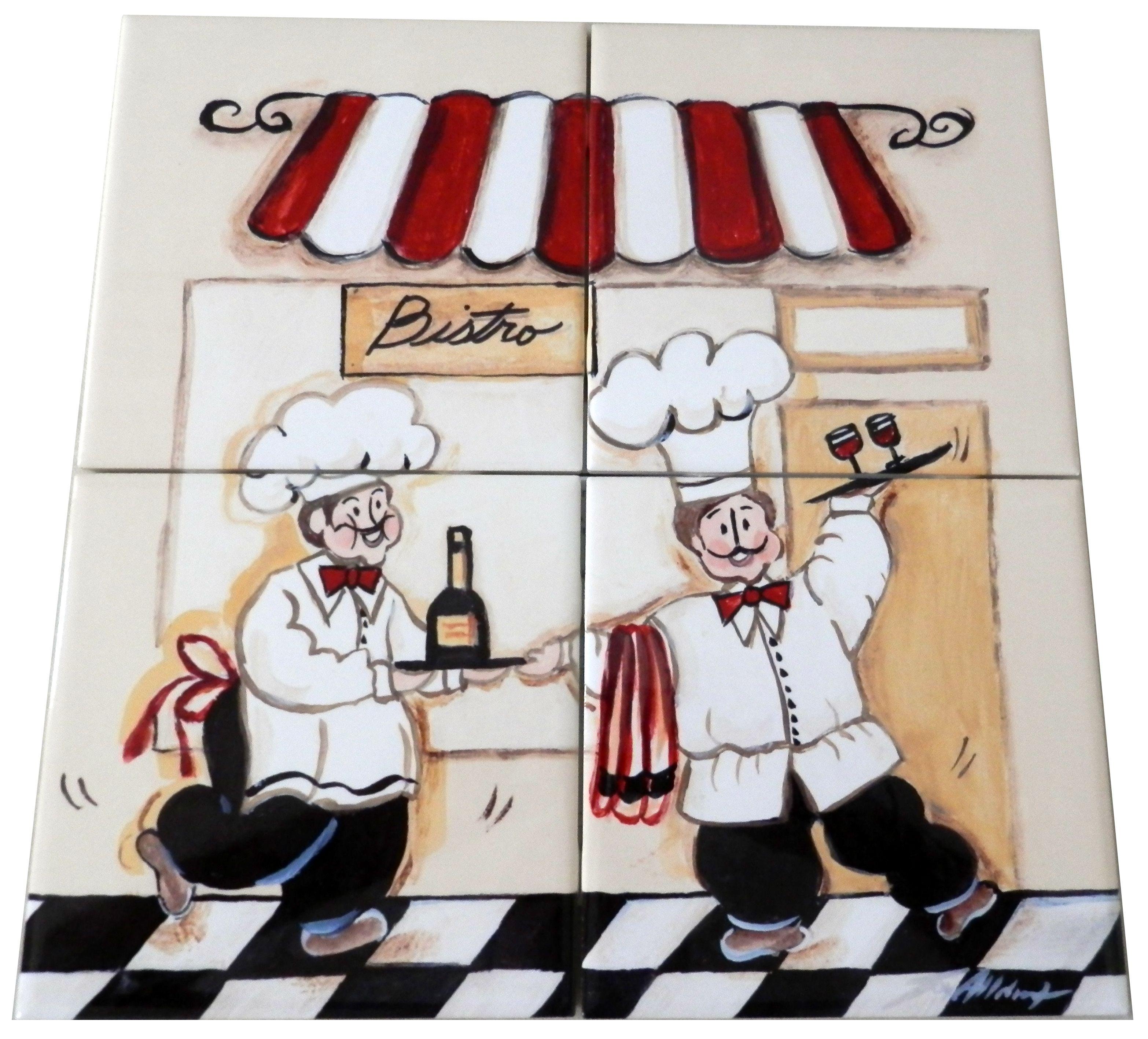 Bistro - Tile Mural | Tile murals, Backsplash ideas and Kitchen ...