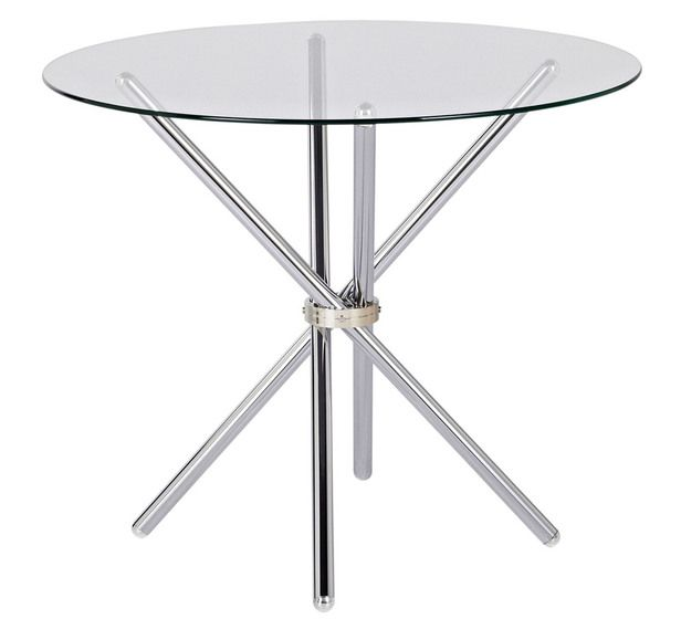 Glass Dining Table 99 Fantastic Furniture 90cm Diameter 4 Seater