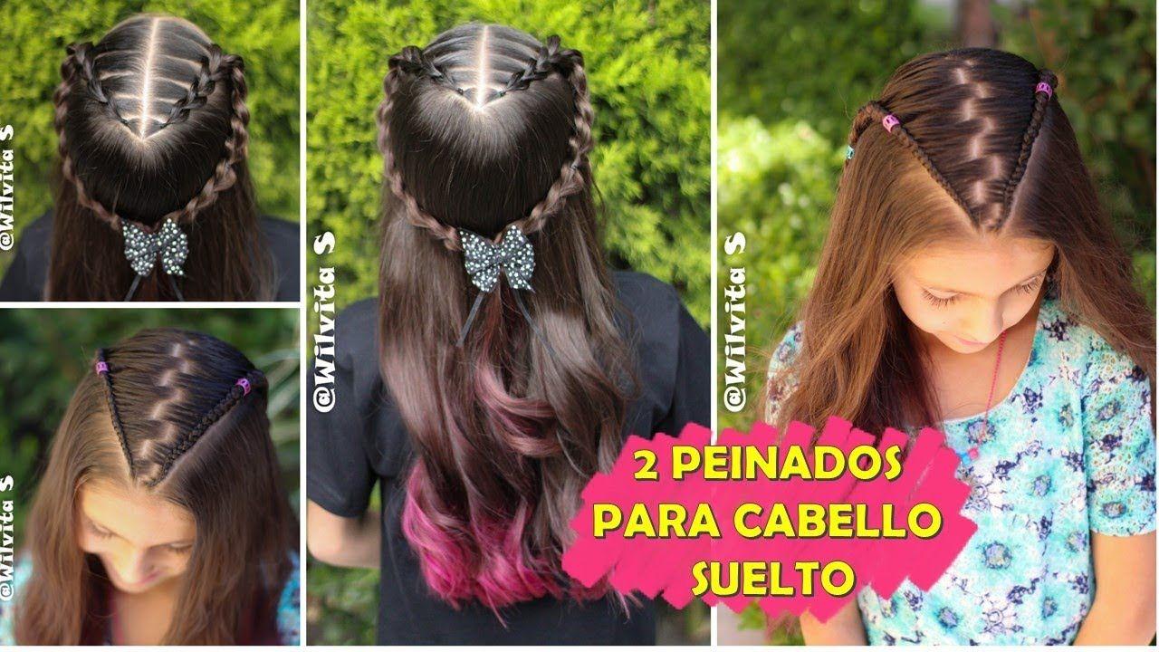 2 Peinados Faciles Elegantes Y Rapidos Para Ninas Peinados Faciles Peinados Faciles Y Rapidos Peinados Elegantes Peinados Sencillos Con Trenzas