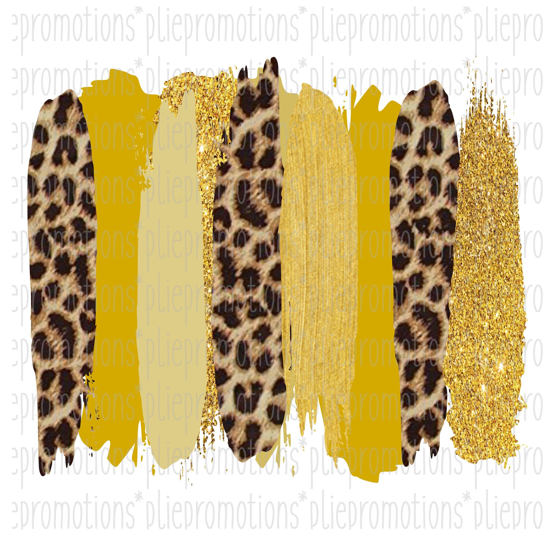 Cheetah Brush Strokes Clipart Gold Brush Strokes Png Graphic Etsy Brush Stroke Png Digital Art Design Brush Strokes