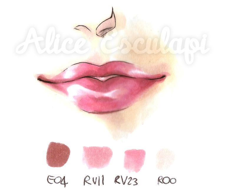 Copic Italy Tutorial Lips Lipstick Copic Marker Art Copic