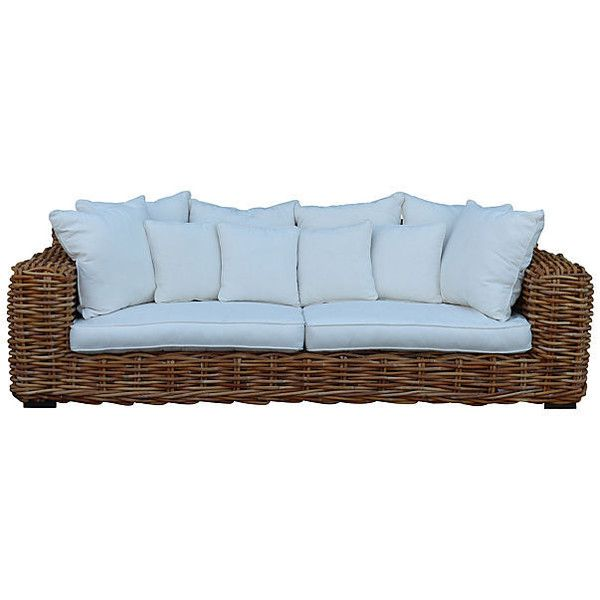 Pre-Owned Ralph Lauren-Style Rattan Sofa ($5,995) ❤ liked on ...